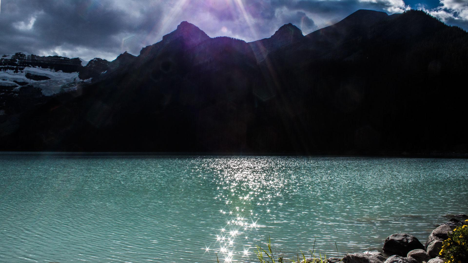 Lake Louise - leider sehr bewölkt heute
