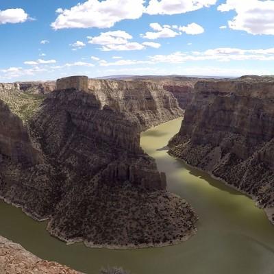 Der hufeisenförmige Bighorn Canyon
