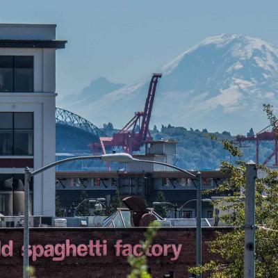 In ständiger Gefahr mit dem Hausvulkan Mt Rainier