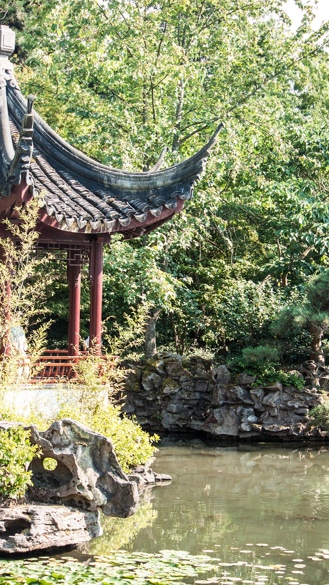 Dazwischen intime japanische Gärten