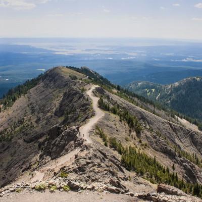 Mt. Washborn (3.122m) mit Ausblick über den ganzen Park und noch weiter