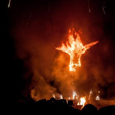 Und da steht er: der Burning Man
