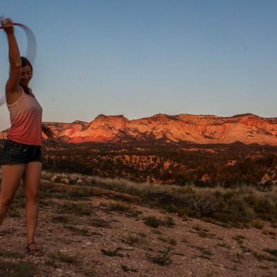 Der Tanz in den Sonnenuntergang