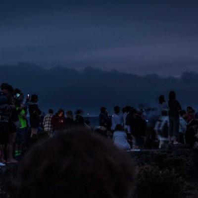 Besucherschaar am Kilauea, einem der aktivsten Vulkane der Welt