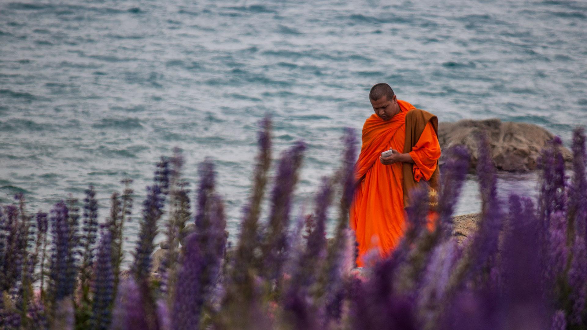 Auch Mönche machen Urlaub