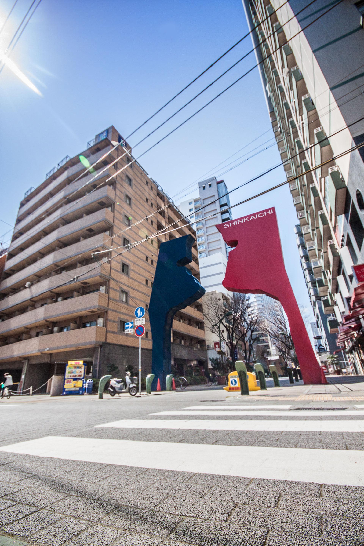 Unser Zuhause für die ersten zwei Wochen: Shinkaichi. Alter Stadtkern, heute ziemlich verschlafen.