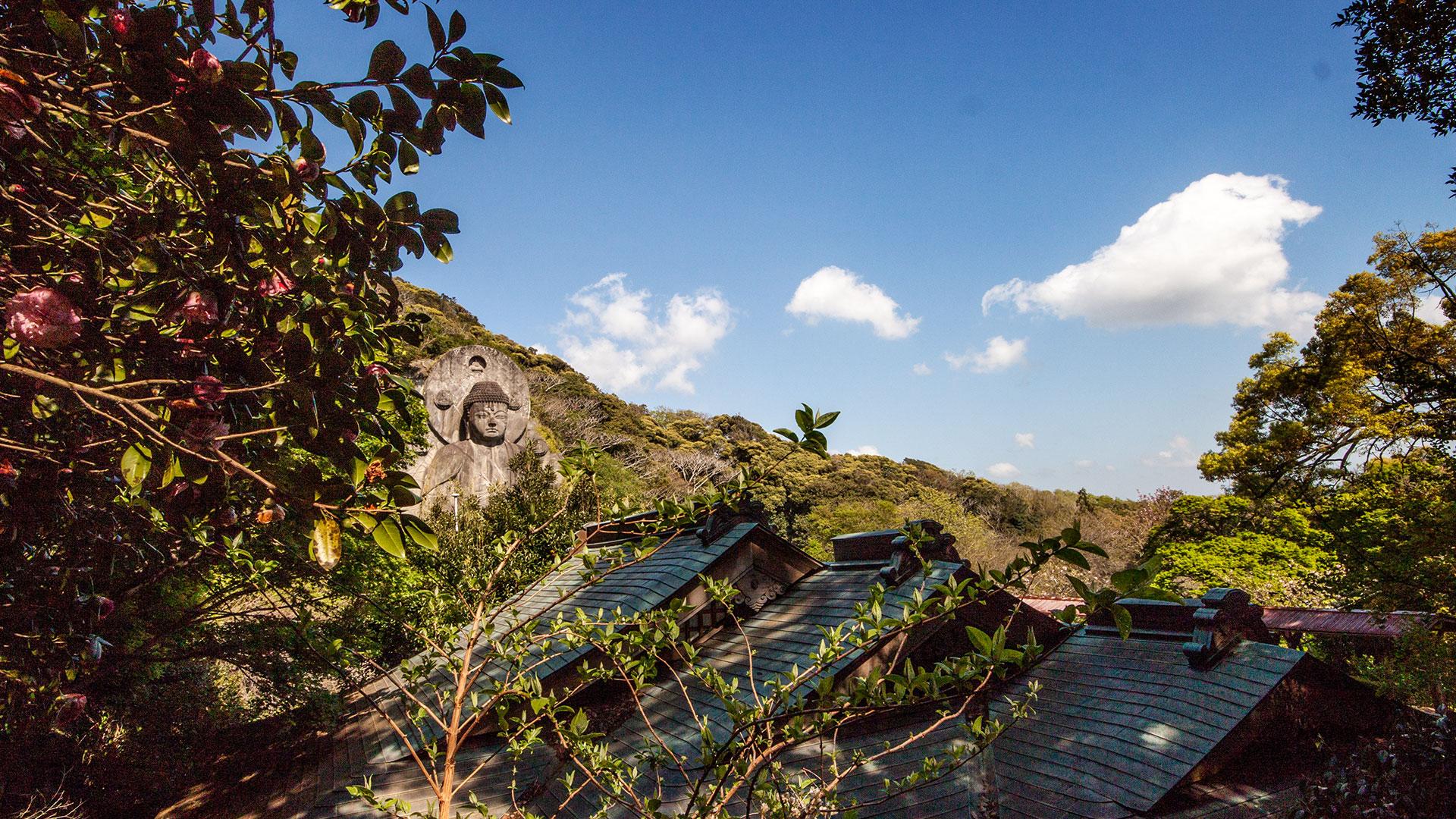 Das Highlight am Mount Nokogiri, der größte Buddha Japans